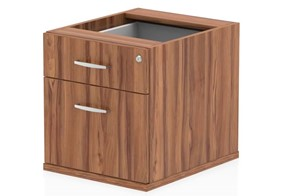 Nova Walnut Fixed Pedestal - 2 Drawer