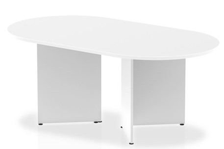 Polar White 1800mm Boardroom Table Panel Leg