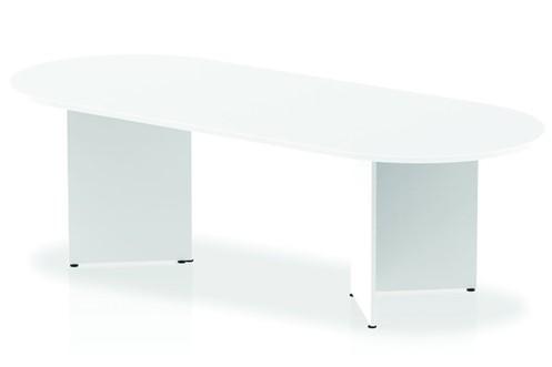 Polar White 2400 Boardroom Table Panel Leg