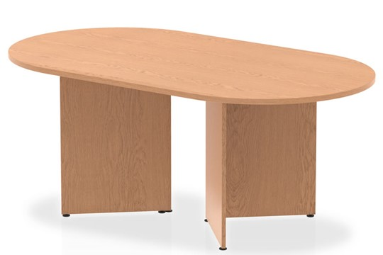 Norton Oak 1800mm Boardroom Table Panel Leg