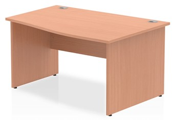Price Point Beech Wave Desk - Right Handed 1400mm x 600mm