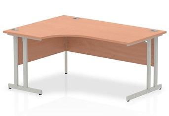 Price Point Beech Cantilever Corner Desk - Right Handed 1600mm x 1200mm