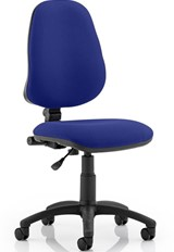 Calypso Upholstered Office Chair - Blue No Arm