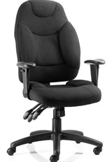 Galaxy Ergonomic Office Chair - Black Fabric