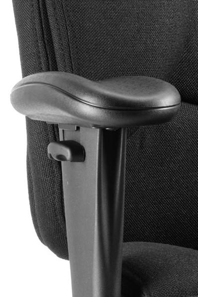 Galaxy Ergonomic Office Chair - Black Fabric