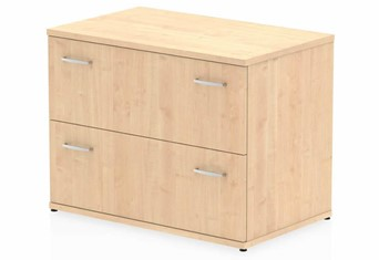 Solar Maple 2 Drawer Desk High Side Filer