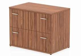 Nova Walnut 2 Drawer Desk High Side Filer