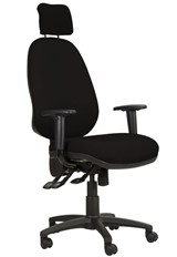 Ergo Posture High Back Office Chair - Black