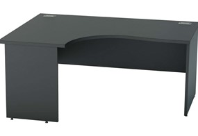 Nene Black Corner Panel End Desk