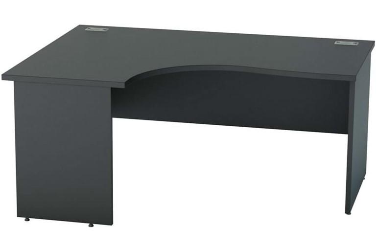 Nene Black Corner Panel End Desk