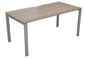 Kestral Grey Oak 1 Person Single Bench Desk
