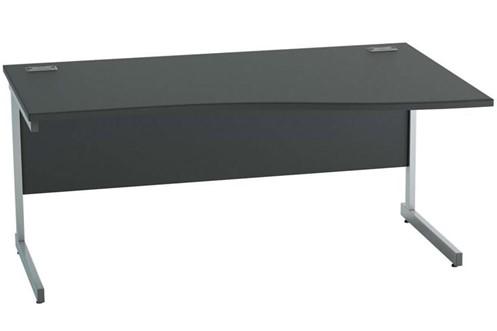 Nene Black Wave Cantilever Desk