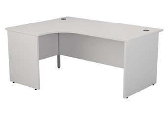 Kestral White Panel Corner Workstation - Left Handed 1600mm x 1200mm