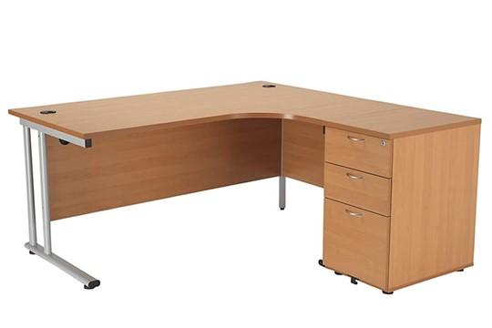 Kestral Corner Desk And Pedestal