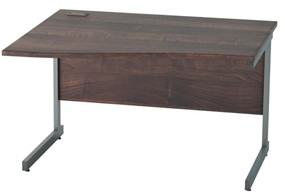Harmony Walnut Wave Cantilever Desk
