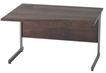 Harmony Walnut Wave Cantilever Desk - 1200mm Left Hand Wave