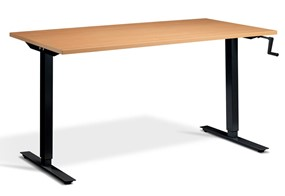 Solo Hand Crank Rectangular Height Adjustable Desk