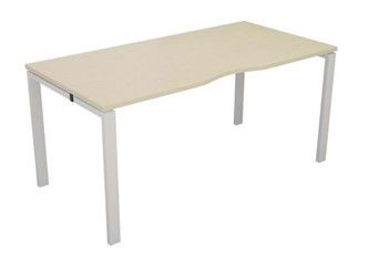 Kestral Maple Single Bench Desk - 1200mm Silver