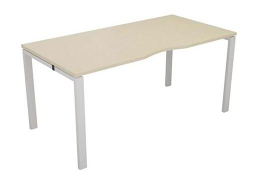 Kestral Maple 1 Person Single Bench Desk