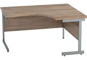 Thames Birch Corner Cantilever Desk - 1400mm x 1200mm Right Hand
