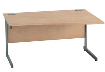 Thames Beech Wave Cantilever Desk - 1200mm x 800mm Right Hand