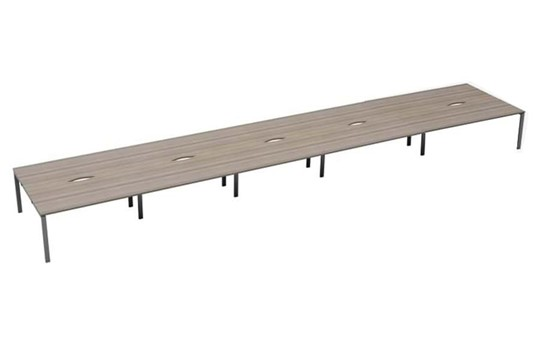 Kestral Grey Oak 10 Person Double Bench Desk
