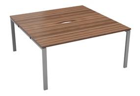 Kestral Dark Walnut 2 Person Double Bench Desk