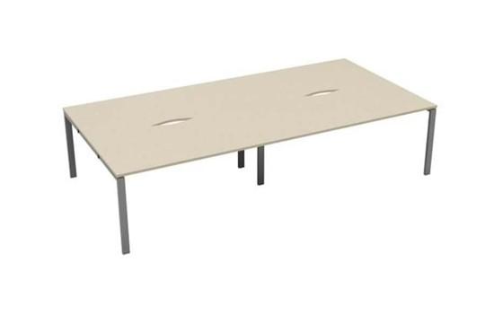 Kestral Maple 4 Person Double Bench Desk