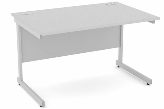 Cloud Grey Rectangular Cantilever Desk