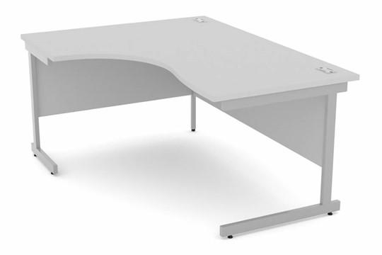 Cloud Grey Corner Cantilever Desk