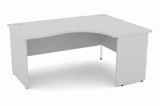 Cloud Grey Corner Panel End Desk