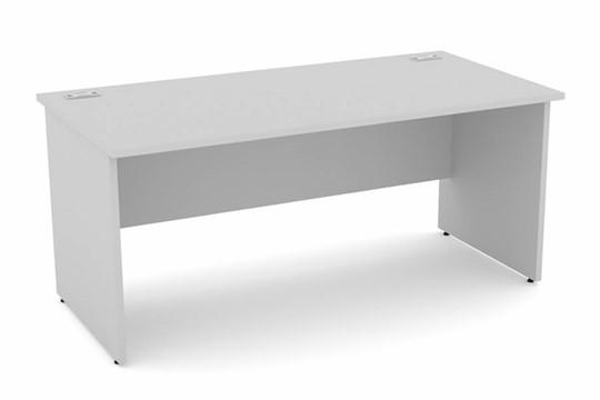 Cloud Grey Rectangular Panel Leg Desk