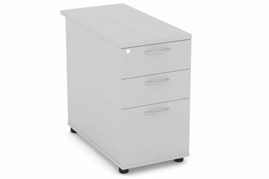 Cloud Grey Desk High Pedestal