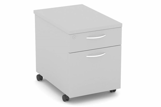 Cloud Grey Mobile Pedestal 2 Drawers