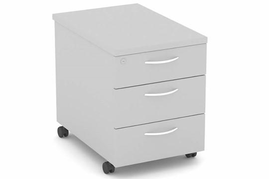 Cloud Grey Mobile Pedestal 3 Drawer