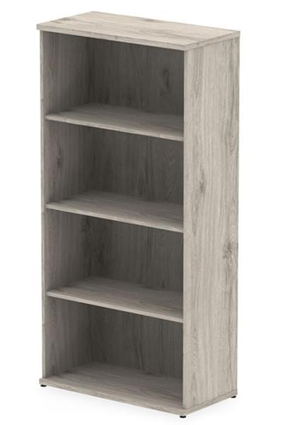 Gladstone Grey Oak 1600 Office Bookcase