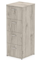 Gladstone Grey Oak 4 Drawer Filing Cabinet