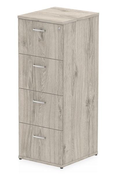 Gladstone Grey Oak 4 Drawer Filing Cabinet