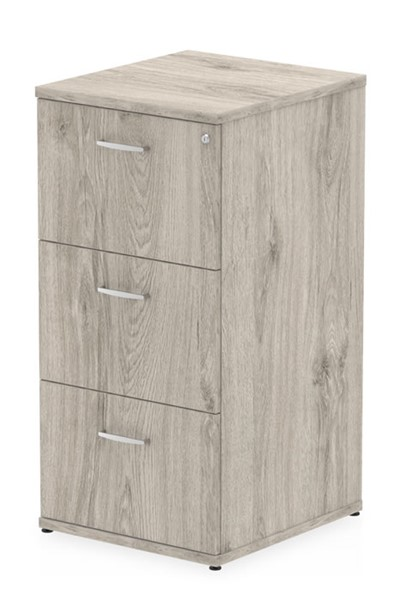 Gladstone Grey Oak 3 Drawer Filing Cabinet