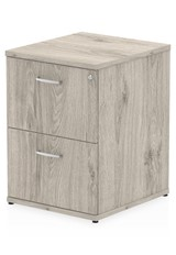 Gladstone Grey Oak 2 Drawer Filing Cabinet