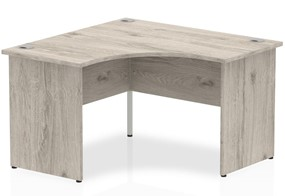 Gladstone Grey Oak Corner Panel Leg Desk