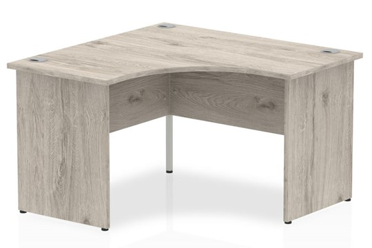 Gladstone Grey Oak Corner Panel Leg Desk