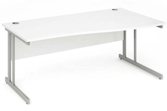 Polar White Cantilever Wave Desk