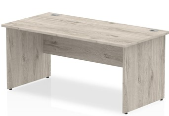 Gladstone Grey Oak Rectangular Panel End Desk - 1200mm 600mm
