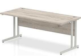 Gladstone Grey Oak Rectangular Cantilever Desk - 1200mm 600mm