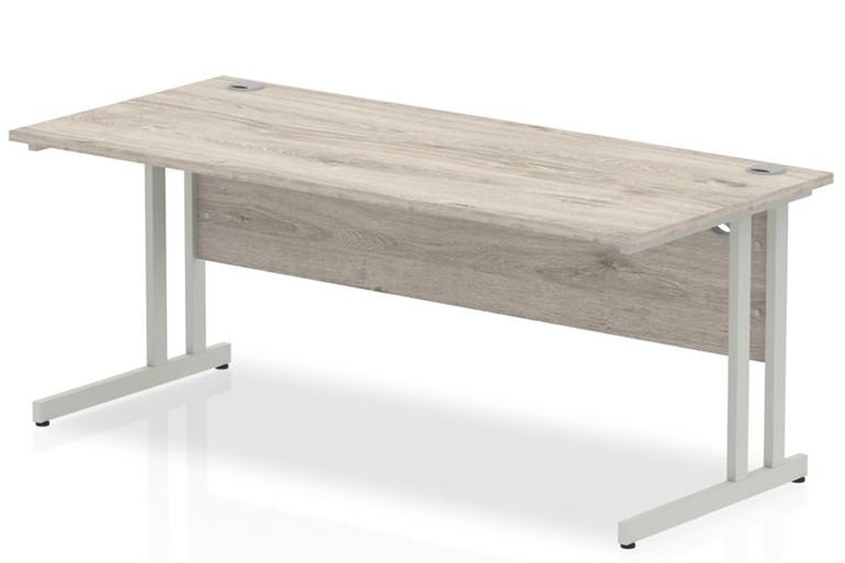 Gladstone Grey Oak Rectangular Cantilever Desk
