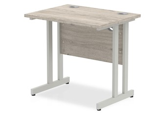 Gladstone Grey Oak Small Cantilever Desk
