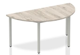 Gladstone Grey Oak Semi-circle Table 1600 Box Frame Leg