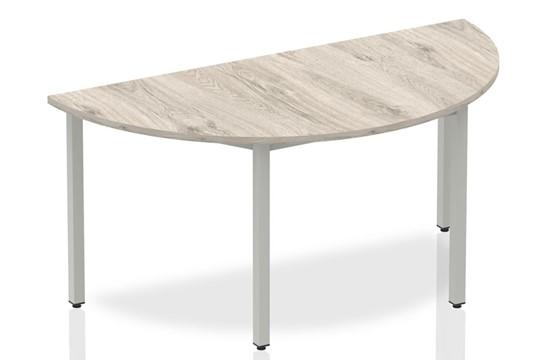 Gladstone Grey Oak Semi-circle Table 1600 Box Frame Leg
