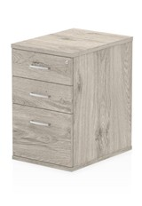 Gladstone Grey Oak 3 Drawer Desk High Pedestal - 600mm